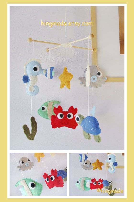 Baby Mobile Sea Mobile Crib Mobile Under the Sea by hingmade, $119.00