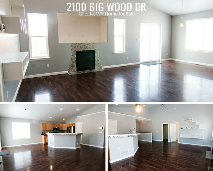 With gleaming hardwood floors, an open concept, and a gas fireplace, we could definitely get comfortable at 2100 Big Wood Dr in Gillette, WY.