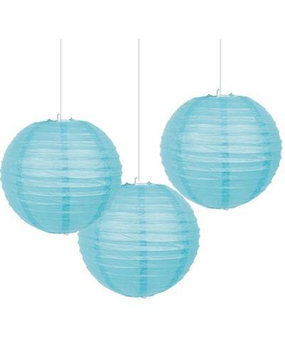 Teal lanterns @April Riggins