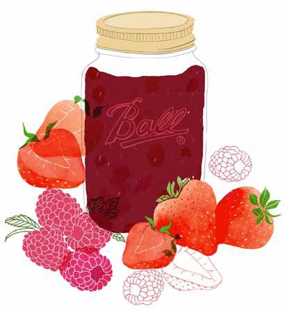 Berry jam by Claudia Pearson.-love this. will be emailing the artist to ask if she plans/has prints of this available.