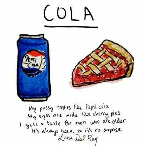 Lana Del Rey - Cola (lyrics illustration)