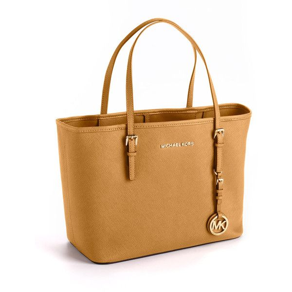 Michael Michael Kors Jet Set Logo Travel Tote Bag ($228) ? liked on Polyvore