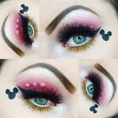 adorable minnie mouse makeup <3