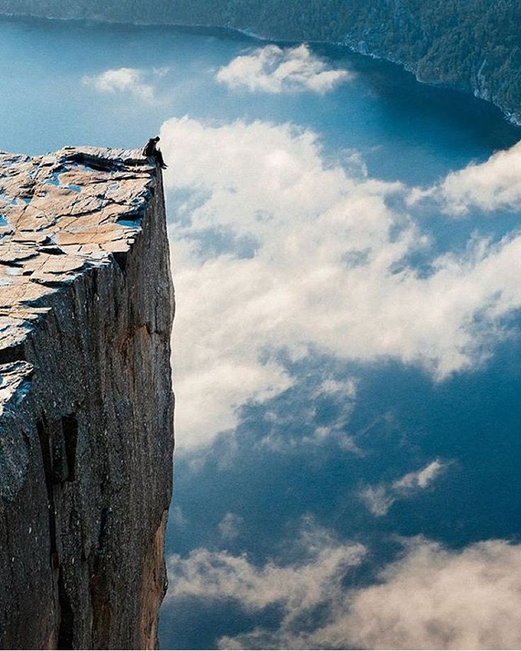 """Above the clouds on Pulpit Rock By @ryansmithphoto  #preikestolen #ilovenorway"""