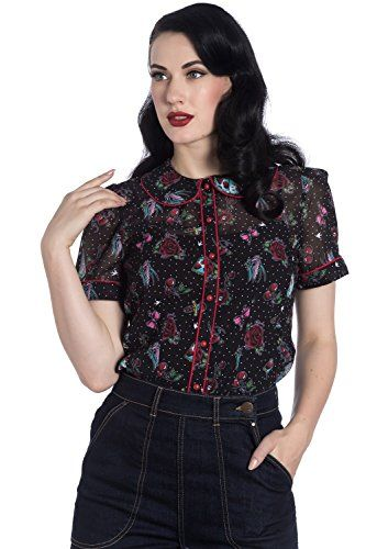 9b4f150661e6 The perfect Hell Bunny Stevie Tattoo Polka Dot Vintage Retro 50s Rockabilly  Blouse Top Shirt Women fashion Tops. [$36.99 - 46.00] topoffergoods from  top ...