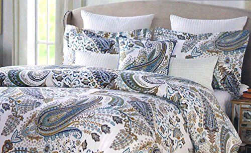 Envogue Arina Parisian Paisley Duvet Cover 3pc Set Full