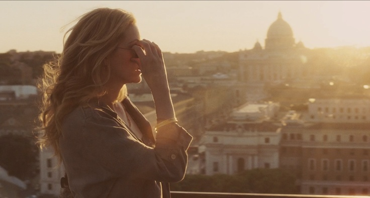 """Ear,Pray, Love"", based on the novel by Elizabeth Gilbert.  An incredible view from Castel S.Angelo Terrace.  With www.afriendinrome.it"