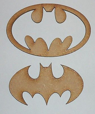 #Batman symbol / logo 2 #piece wooden mdf #craft blank., View more on the LINK: http://www.zeppy.io/product/gb/2/371566920505/