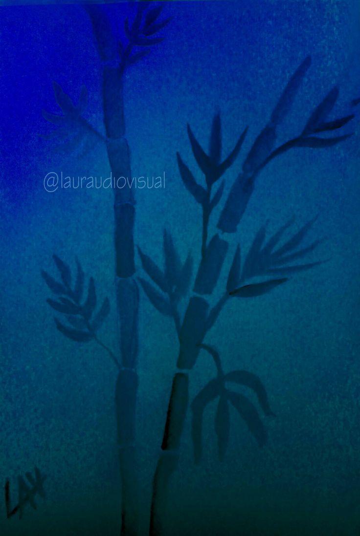 @lauraudiovisual  Bamboo. Watercolor & Photoshop