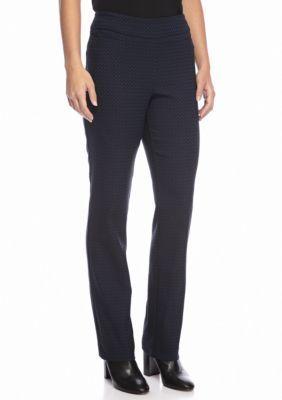 Kim Rogers BlueBlack Stretch Chevron Pants