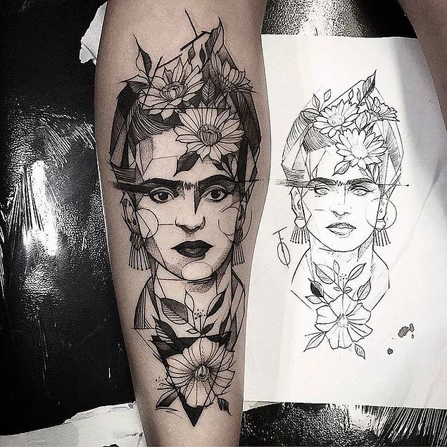 28 Artistic Tattoos to Give Life to the Famous Artists' Classical Works