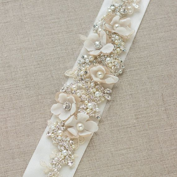 Wedding belt, Bridal belt, Wedding dress belts sashes, Floral belt ...