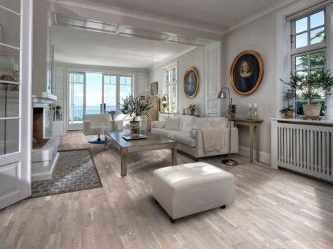 Parchetul de stejar Limestone are un aspect rustic, fiind alegerea ideala pentru casele in stil Country.