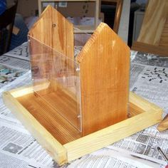These free bird feeder plans make great kids' woodworking projects.