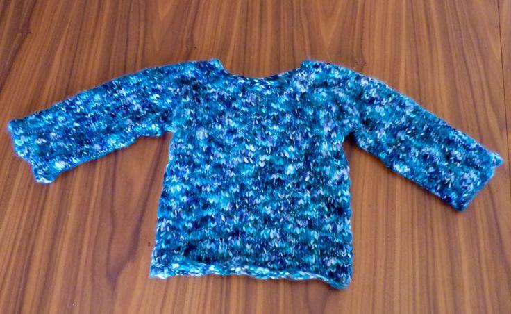 Tricoter un pull facile et rapide pour fille ou gar on tuto gratuit niveau d butant une - Tuto tricot debutant gratuit ...