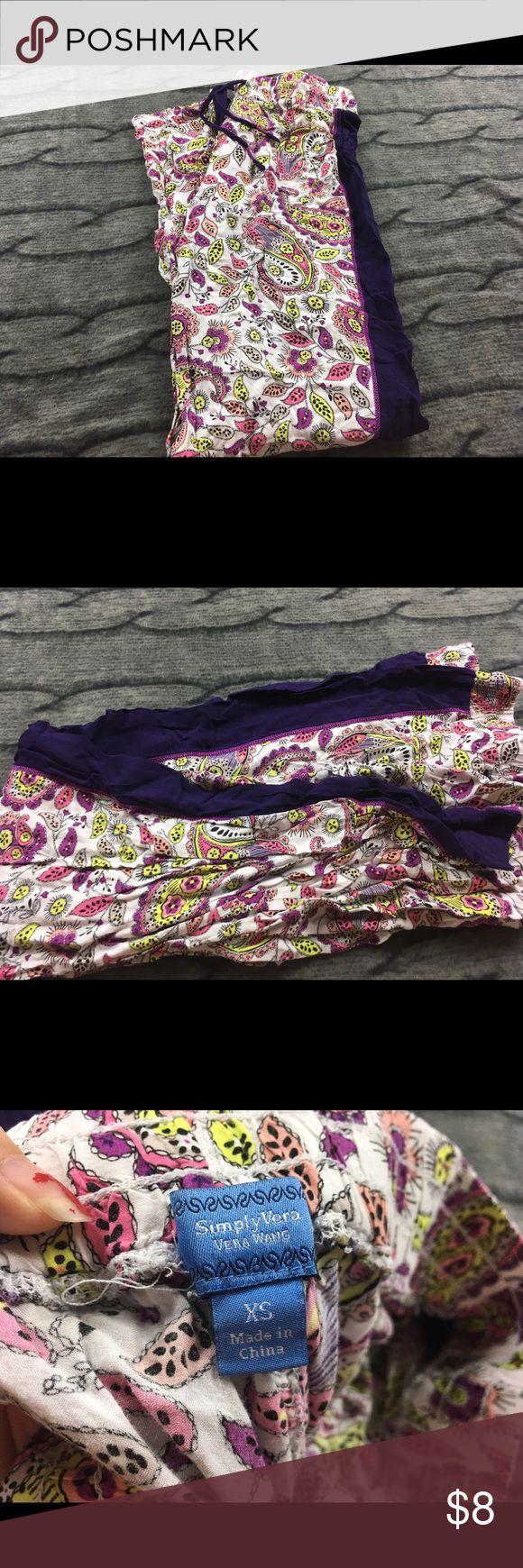 Simply Vera Wang XS Pajama Pants. Simply Vera Wang XS Pajama Pants.  Good condition very cute! Simply Vera Vera Wang Intimates & Sleepwear Pajamas