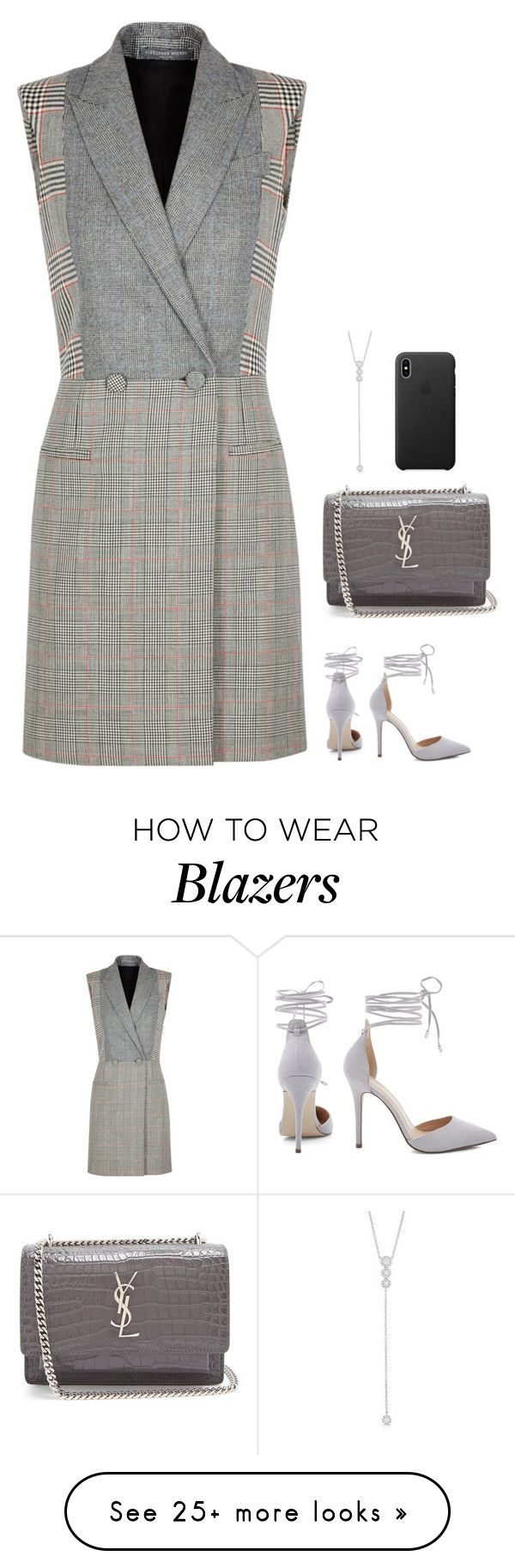 """""""#7489"""" by azaliyan on Polyvore featuring Alexander McQueen, Yves Saint Laurent and Anne Sisteron"""