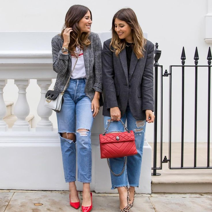 "1,207 Likes, 15 Comments - Sarah & Philippa (@wearetwinset) on Instagram: ""When all you want to wear is a blazer, jeans and tee Who's with us?! More on our new uniform over…"""