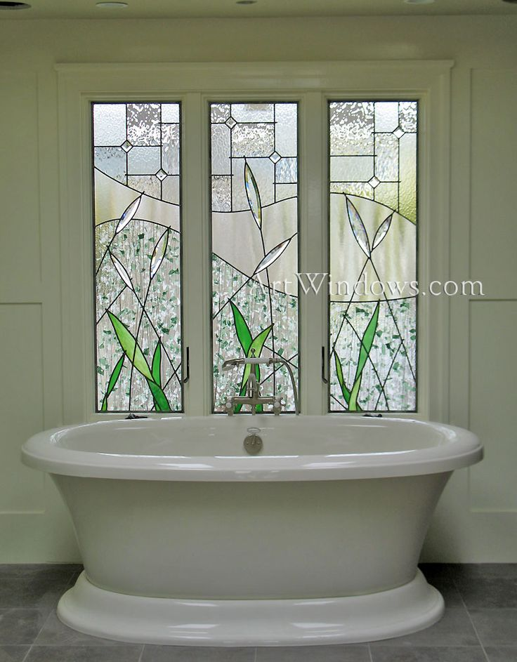 I Want To Replace The Garden Tub With A Freestanding Tub. Since The Window  Is See Through, I Could Make A Stained Glass Piece To The Exact  Measurements Of ...