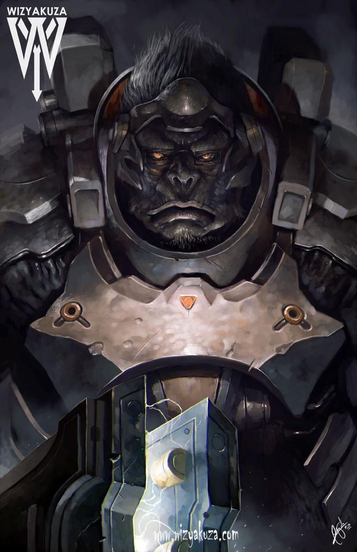 Winston from Overwatch    BY:Wizykuza