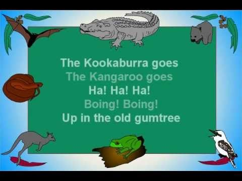 Fun song about Australia and its animals. If you go into the bush you'll hear the kookaburra, kangaroo, crocodile, brown snake, frog, etc.