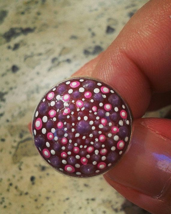 Check out this item in my Etsy shop https://www.etsy.com/listing/476258591/dotillism-art-statement-ring-with-glow