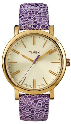 Purple pebbled leather watch. http://rstyle.me/n/r2ku9bg7t7
