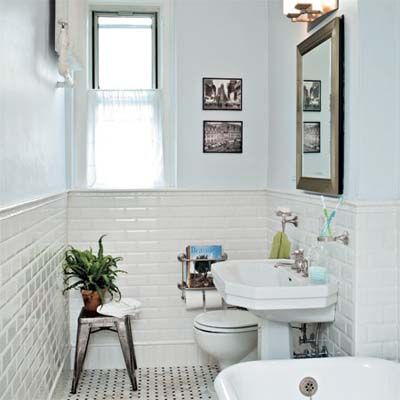 Bathroom remodeled in a classic twenties style