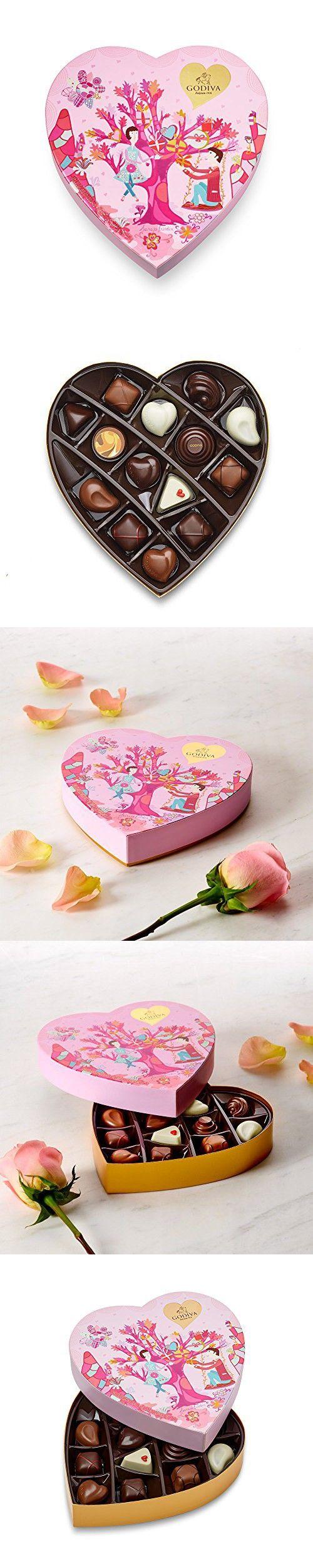 Godiva Chocolatier 14 Piece Valentine's Day Heart Gift Box