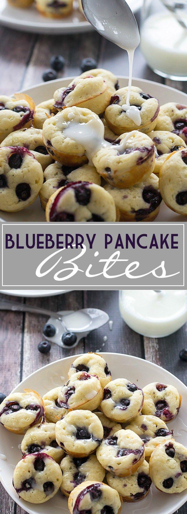 Blueberry Pancake Bites | www.motherthyme.com