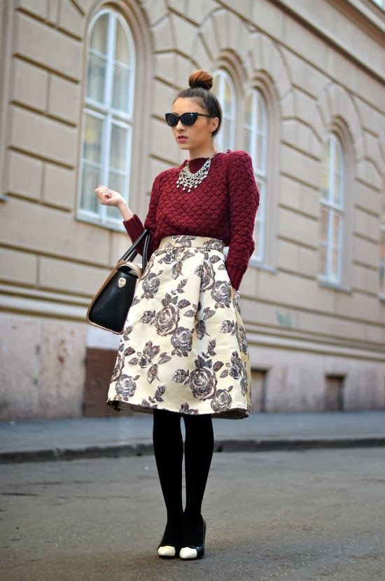 Living_in_aShoe: Flowers and burgundy