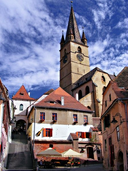 Former centre of the Transylvanian Saxon community, the old city of Sibiu was ranked by Forbes as Europe's 8th most idyllic places to live in. Sibiu was  designated  European Capital of Culture in 2007. www.romaniasfriends.com/city break