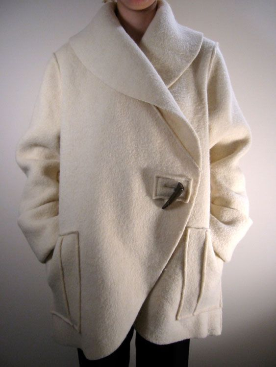 Andrea Reynders' custom-made coats: a dream wrapped in snow wrapped in wool and i want it.