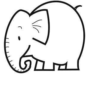 Dessin coloriage elephant