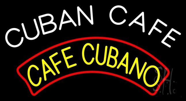 Cuban Cafe Neon Sign