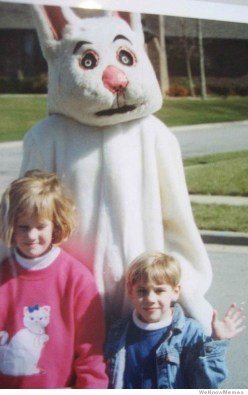 WeKnowMemes - http://weknowmemes.com/2013/03/12-creepiest-easter-bunny-costumes-ever/