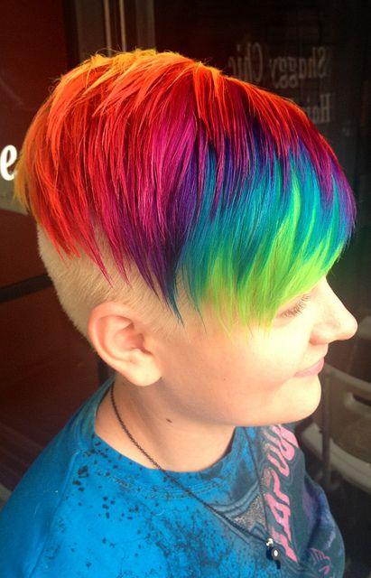 Haley's rainbow hair   Flickr - Photo Sharing!