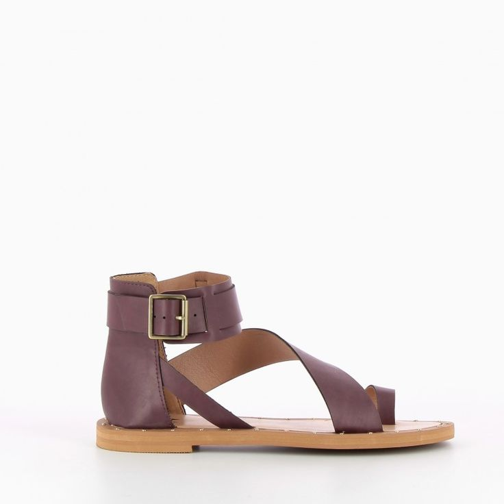 SPRING 17 / Nice Toe Ring Sandals - Plum