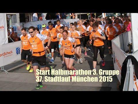 Stadtlauf München 2015 Start Halbmarathon Distanz, 3. Gruppe