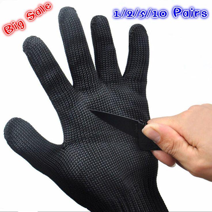 1/2/5/10 Pares de Luvas de Segurança Proteger Luvas de Fio de Corte de Aço Inoxidável Metal Mesh Butcher Anti-corte Luvas de Trabalho Respirável
