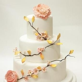 Romantic Blush wedding cake
