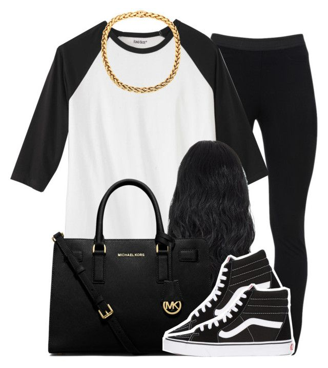 """."" by trillest-queen ❤ liked on Polyvore featuring Peace of Cloth, MICHAEL Michael Kors and Vans"