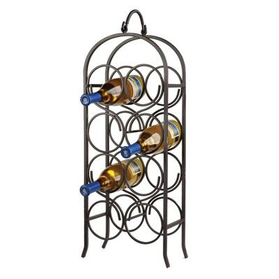 $32.00  The Wine Arch Wine Rack holds 8 bottles of wine of your choosing in a unique and beautiful fashion. View product details for complete description.