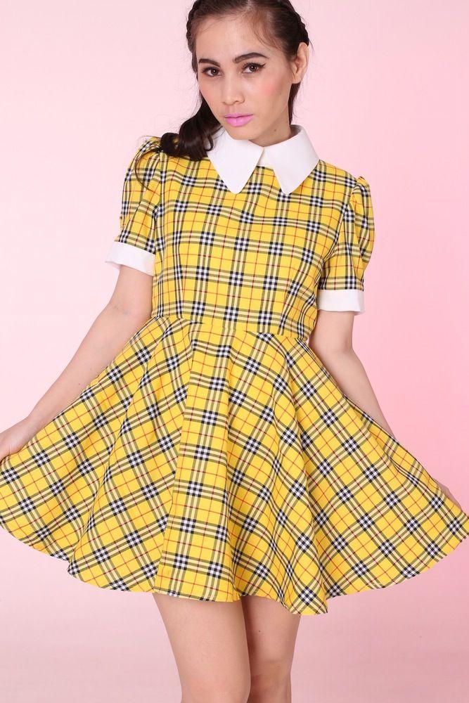 Image of 2 Weeks Waiting - Tartan Wonderland Dress in Yellow