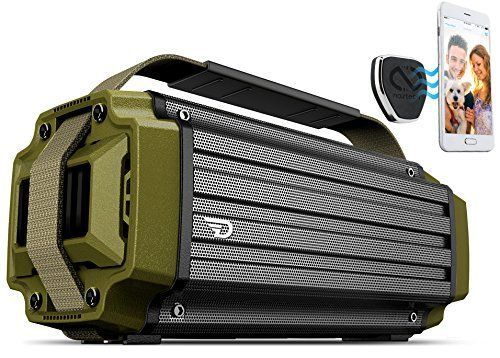 TREMOR Bluetooth Speaker 50W Portable System with aptX Bluetooth 40 Technology HighFidelity Studio Sound 20800mAh Battery IPX5 Rugged Shell Bonus MagBuddy Anywhere Magnetic Mount *** See this great product.