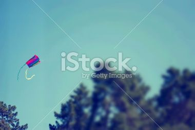 Kite in Sky, Childhood Royalty Free Stock Photo