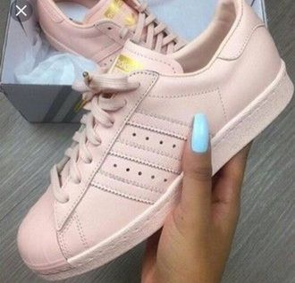 shoes superstar adidas rosa