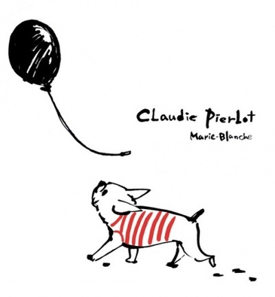 'Claudie Pierbot', French Bulldog Print, illustration by Marie Blanche.