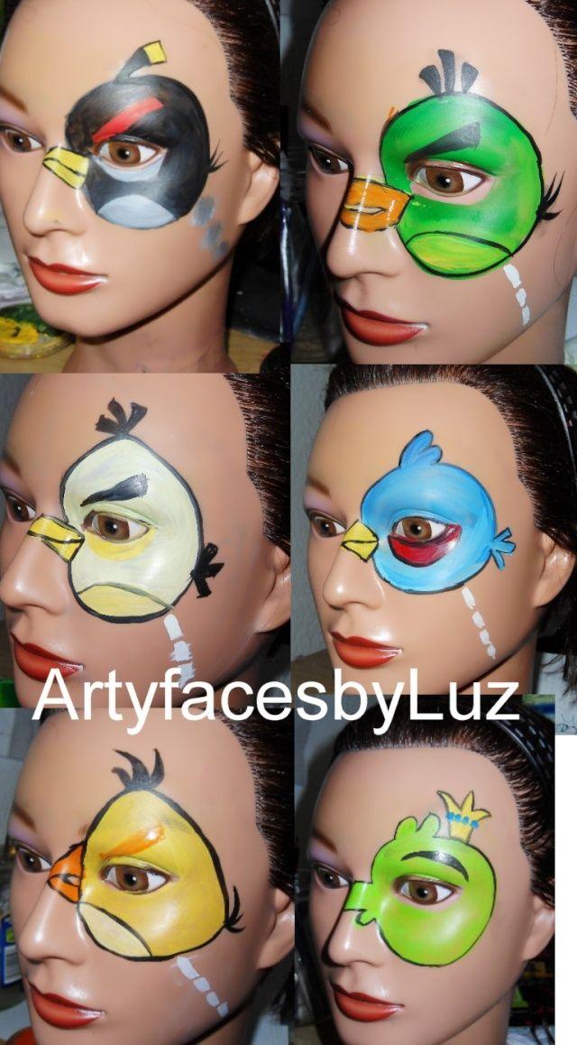 DIY Angry Bird Face Paint #DIY #AngryBirds #FacePainting #Birthdays #Birthday #Parties #Party