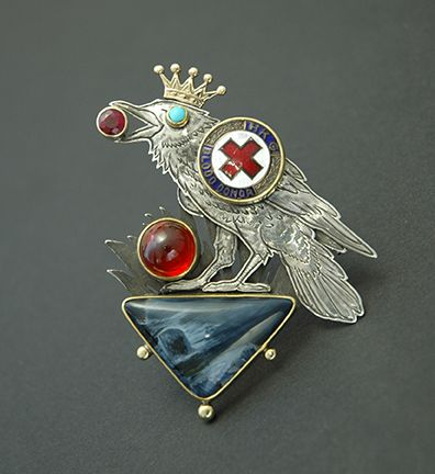 Kit Carson Jewelry  Crow Pin  #silversmith #jewelryart #amazing